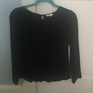 Anthropologie Black Long Sleeve Shirt
